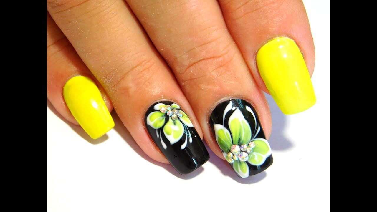 Yellow flowers New Nail Art 2017 The Best Nail Art Designs June 2017 ...
