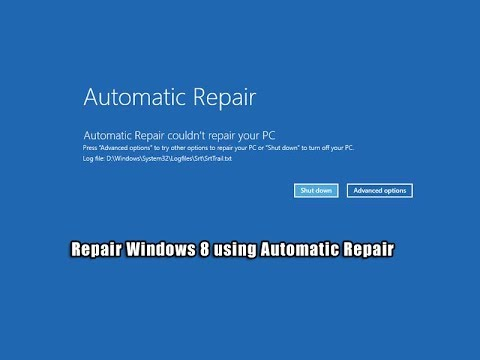 Repair Windows 8 Using Automatic Repair Youtube