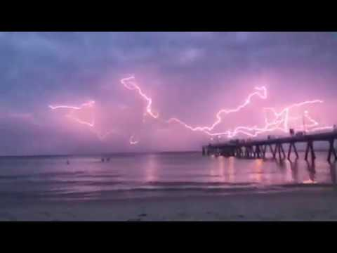 'Spider Lightning' Illuminates Seaside Adelaide With Spectacular Light Show