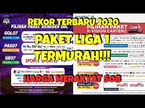 Harga Paket Liga 1 2020 Kvision