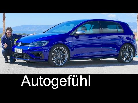 VW Golf R FULL REVIEW going crazy on Racetrack! Facelift 310 hp AWD Volkswagen hot hatch