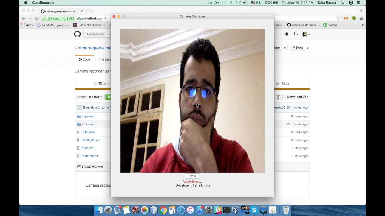 Recording a video from camera using Java -with code-