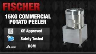 FISCHER Equip Commercial Potato Peeler 15KG - PP-15.