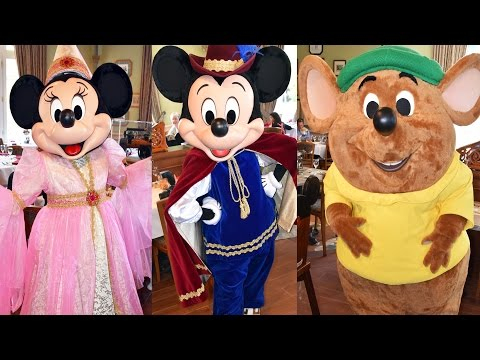 Inventions Brunch Disney Character Montage at Disneyland Hotel Paris, Cinderella Theme w/Jaq, Gus +