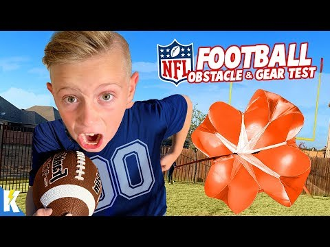 Backyard NFL Football Obstacle & Gear Test For Kids!!! KIDCITY