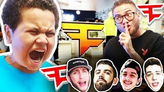 MY LITTLE BROTHERS REACTION TO ME GOING TO FAZE POP UP SHOP WITHOUT HIM!!! *FUNNY!*