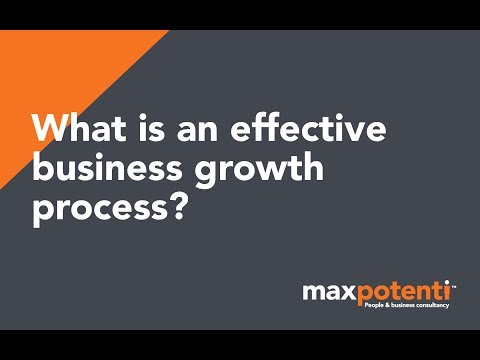 What is an effective business growth process?