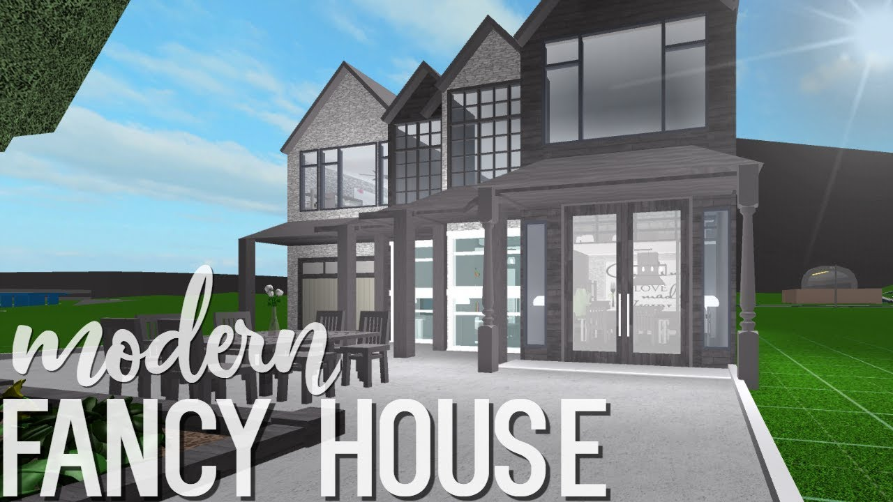 Bloxburg Modern Two Story House Youtube
