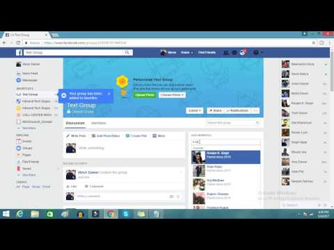 How to make a facebook page group