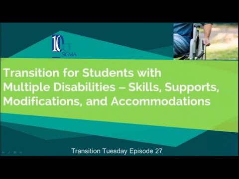 Transition resources for students with multiple disabilities   Episode 27