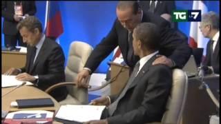 26-5-11 Berlusconi parla con Obama contro giudici al G8 (English subs-Subtítulos español)