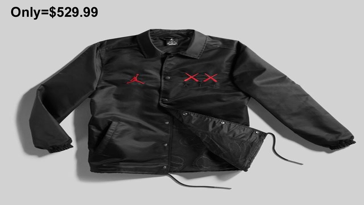 new product 3ba3c 6cd7b Nike Air Jordan Retro 4 IV Kaws Coaches Jacket Black Size XXL New With Tags