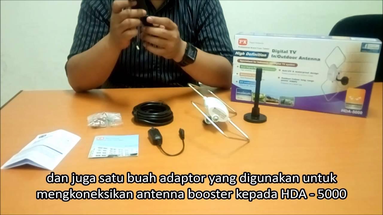Video Cara Pemasangan Px In Outdoor Antenna Digital Hda 5000