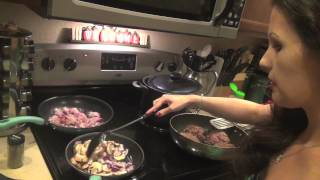 Bacon Swiss Mushroom Burgers On An Onion Bun With Citrus Salad And Corn - Episode 47 Lily's Sizzling
