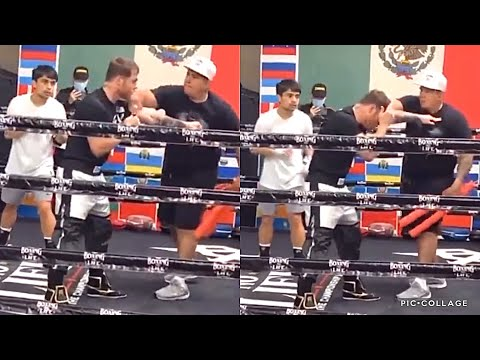 SICK! CANELO TEACHES PACQUIAO JR. DEFENSE & HOW TO TUCK HIS CHIN SO HE DOESN'T GET HIT WITH A PUNCH