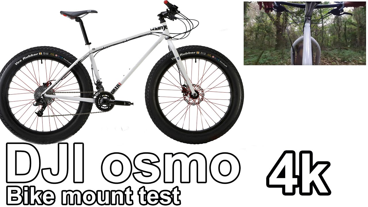 dji osmo bike mount test on a charge cooker maxi fat bike with