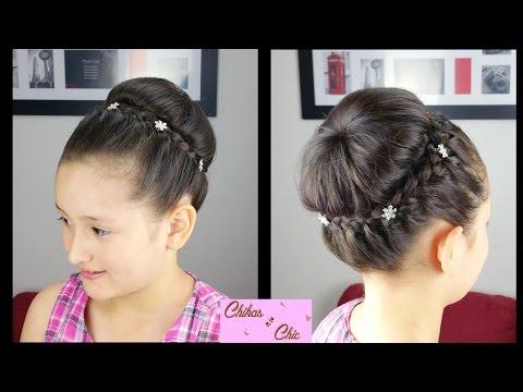 Recogido con Corona Trenzada - Braided Crown Updo | Peinados para Fiesta | Peinados Elegantes
