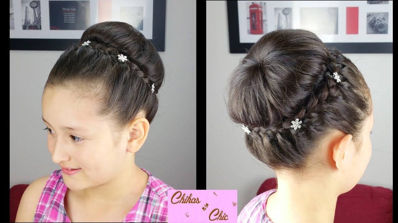 recogido con corona trenzada braided crown updo peinados para fiesta peinados elegantes youtube