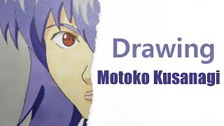 Drawing Motoko Kusanagi - Ghost in the Shell - Original Fan Art