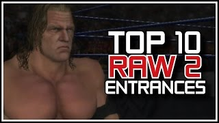 "WWE Games Countdown - Top 10 ""RAW 2"" Entrances! (WWE Top 10 Classic Countdowns)"