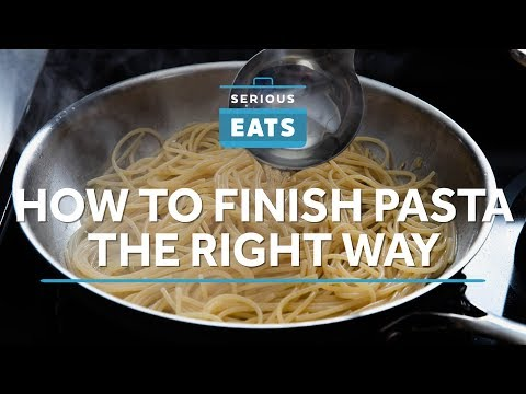 How to Finish Pasta the Right Way