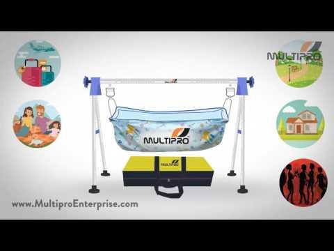 Multipro Indian Style Ghodiyu Born Baby Sleep Swing Cradle Folding Portable Stainless Steel