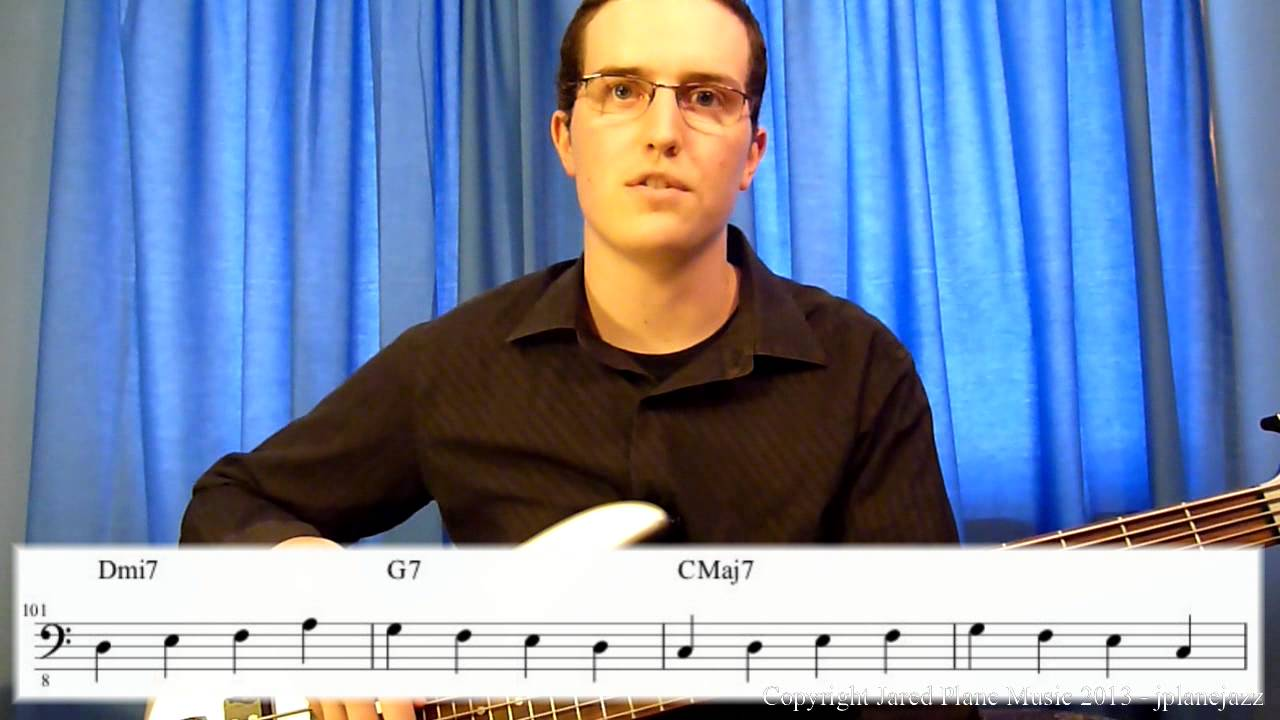 how to play walking bass lines jazz bass lesson part 3 youtube. Black Bedroom Furniture Sets. Home Design Ideas