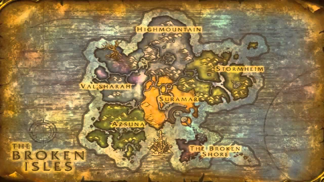 Legion World Map.Wow Legion Full Scale Map Youtube