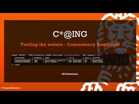 ING: Apache Cassandra at ING — Testing the Waters – Consistency Required!