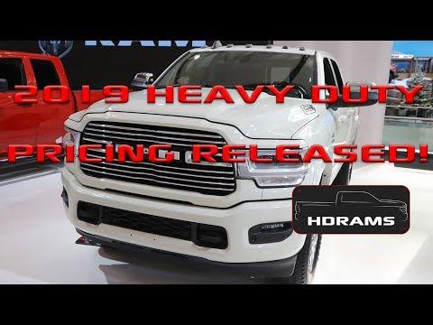 2019 Ram Heavy Duty Pricing released