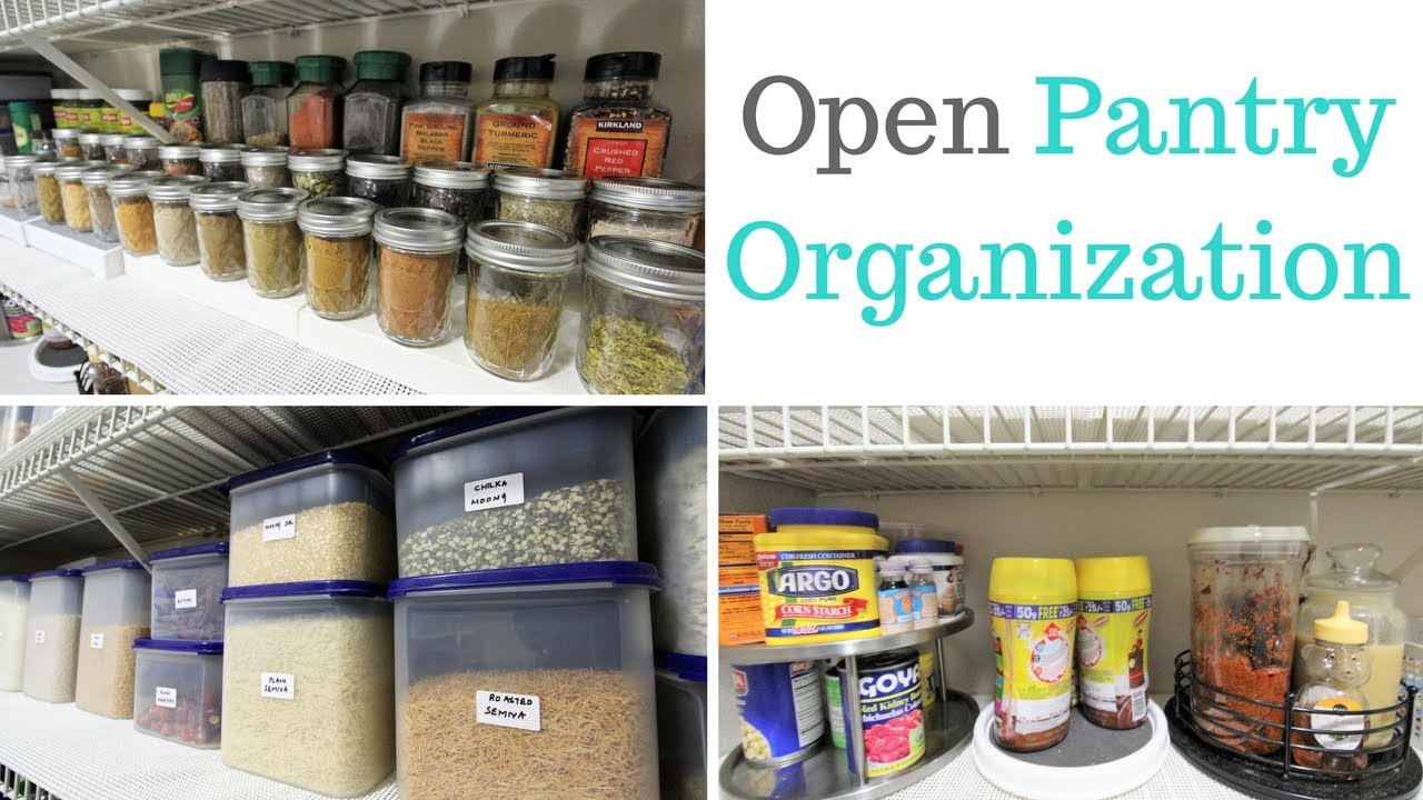 Kitchen Organization Open Pantry
