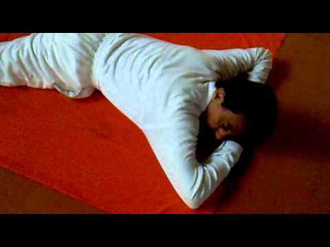 yoga for control back pain in makarasana videomp4  youtube
