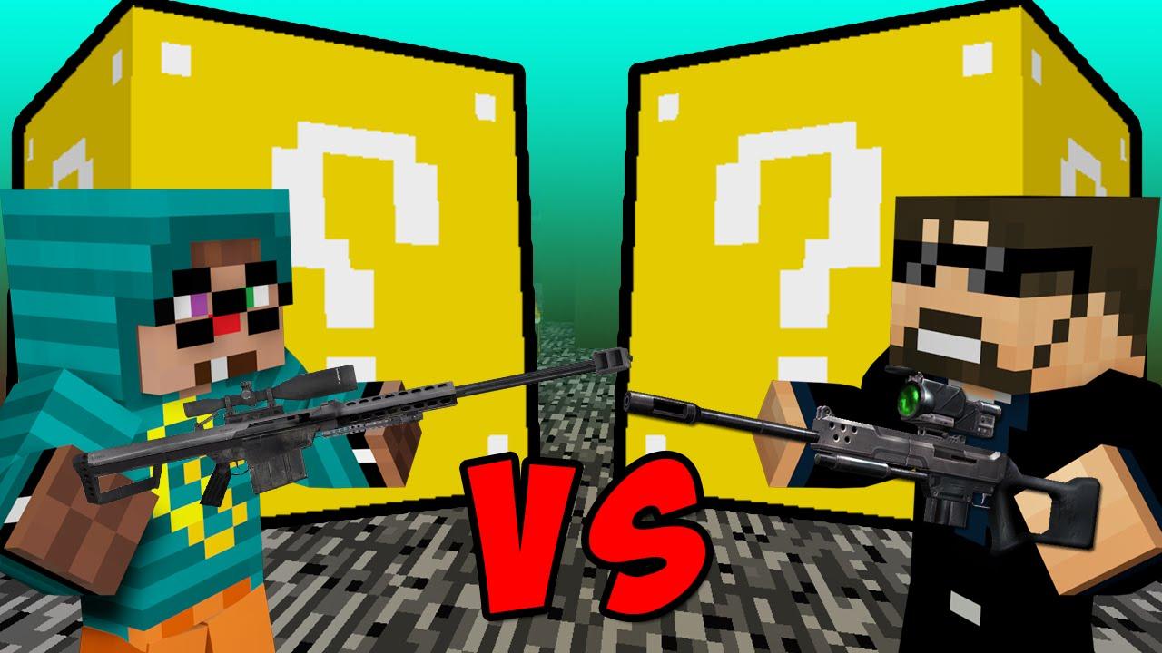 Minecraft  Lucky Block Battle - Explosive Snipers  U0026 Memes W   Ssundee