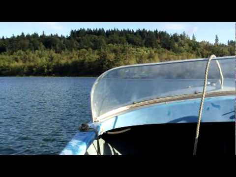 1957 Johnson Sea Horse 18hp On 1962 13 Foot Elgin Boat