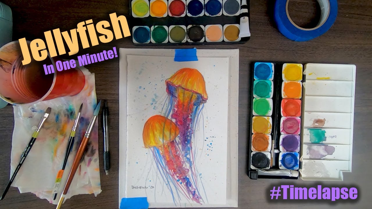 Paint a Watercolor Jellyfish: Time-lapse | Palette Passions Studio
