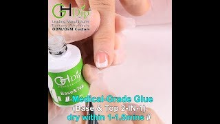 Medical Grade Base&Top Coat 2in1 to do french manicure dip powder nails