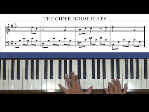 The Cider House Rules Theme Piano Tutorial
