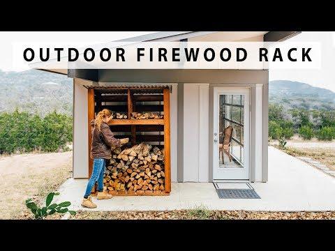 DIY Outdoor Firewood Rack