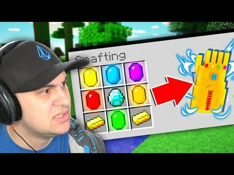 HOW TO CRAFT THE INFINITY GAUNTLET IN MINECRAFT! *CAUTION: Overpowered*