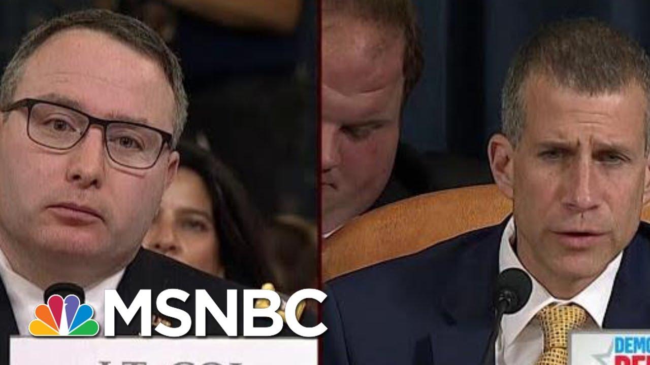 GOP Reaches New Low In Questioning Vindman's Loyalty | Morning Joe | MSNBC