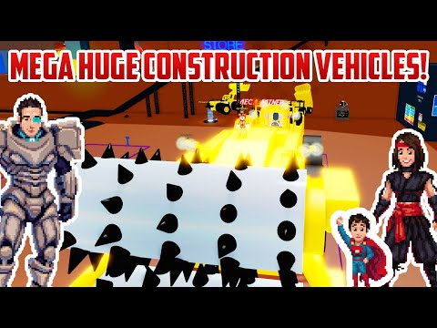 ROBLOX MEGA MINERS! These Construction Vehicles are MASSIVE |