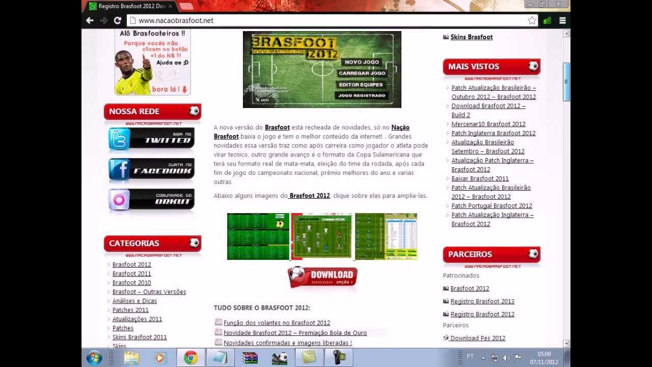 ligas para o brasfoot 2012 gratis