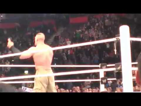 John Cena gives WWE SmackDown announcer Tony Chimel an AA....again!