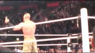 John Cena gives WWE SmackDown announcer Tony Chimel an AA....again!