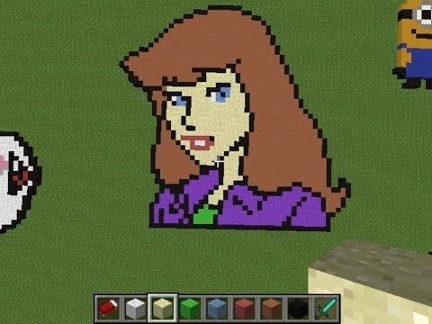 Daphne Blake From Scooby Doo - Minecraft Pixel Art Creative Builds #19 (Circles Dubstep)