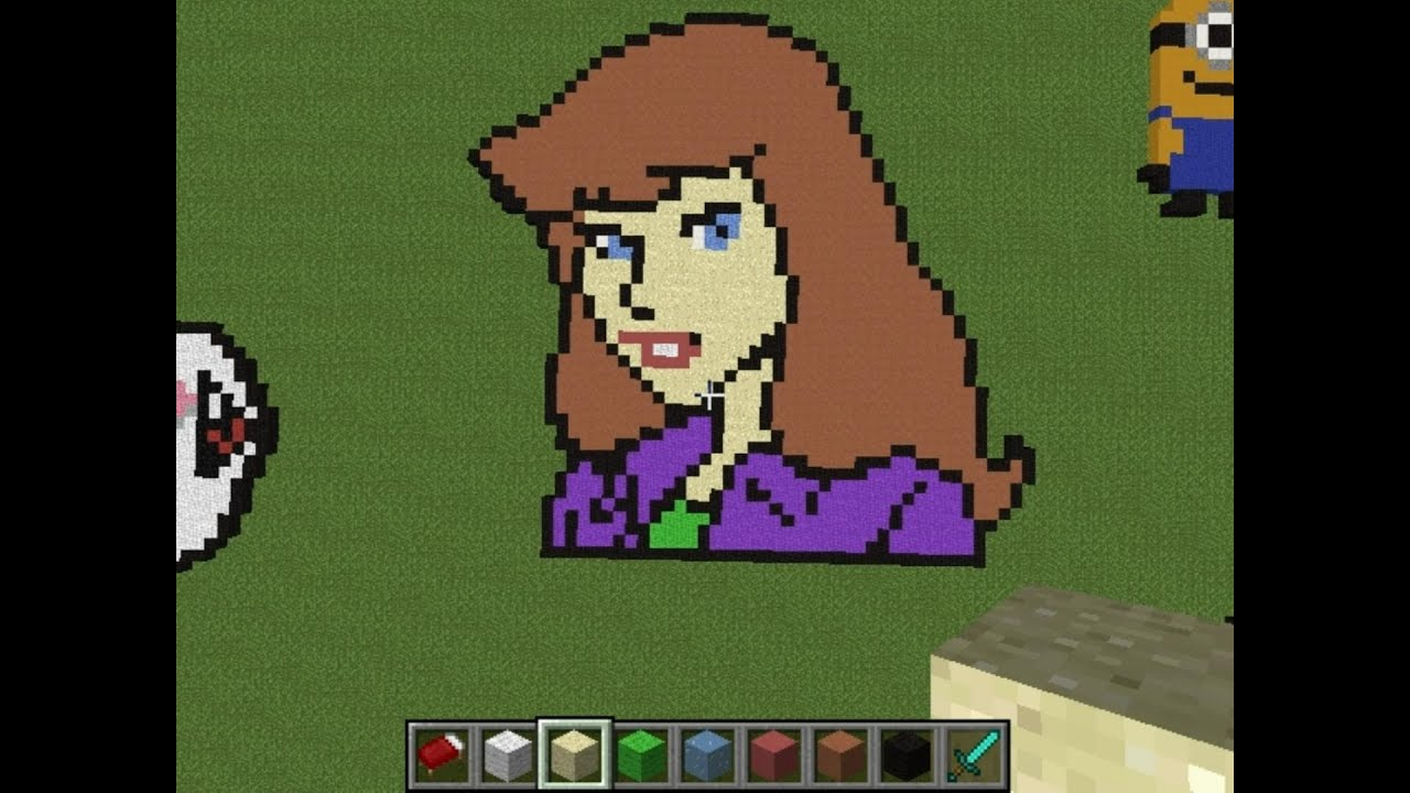 Daphne Blake From Scooby Doo - Minecraft Pixel Art Creative Builds ...