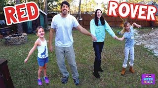 RED ROVER GAME IN OUR BACKYARD! Family Game Challenge!