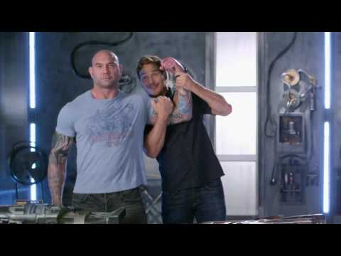 Chris Pratt explains why Dave Bautista was the best prop in GotGVol2!
