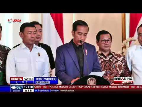 Keterangan Pers Jokowi Terkait Rusuh Mako Brimob