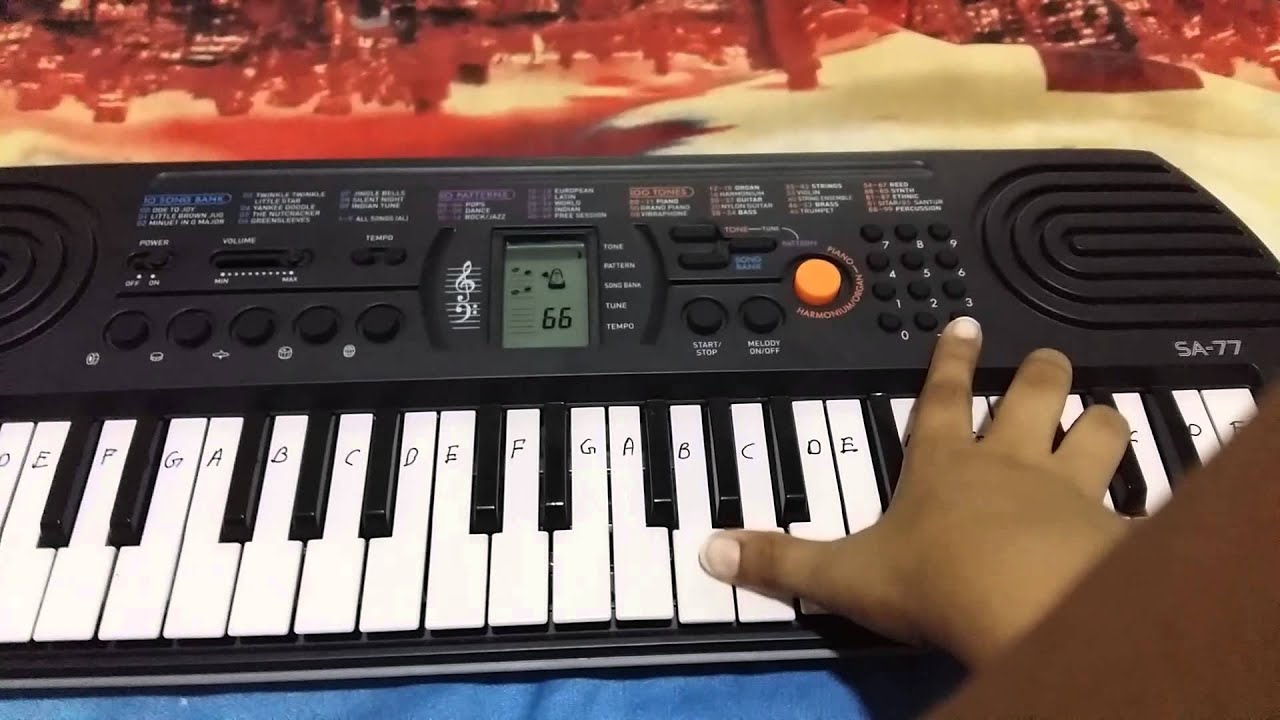 Function Of Piano Casio Sa 77 Youtube